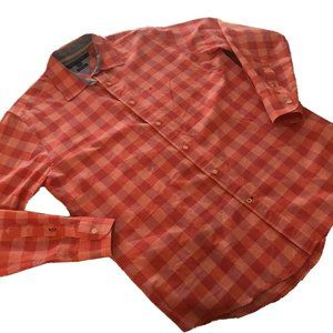 Tommy Hilfiger button down shirt Pink Plaid Coral